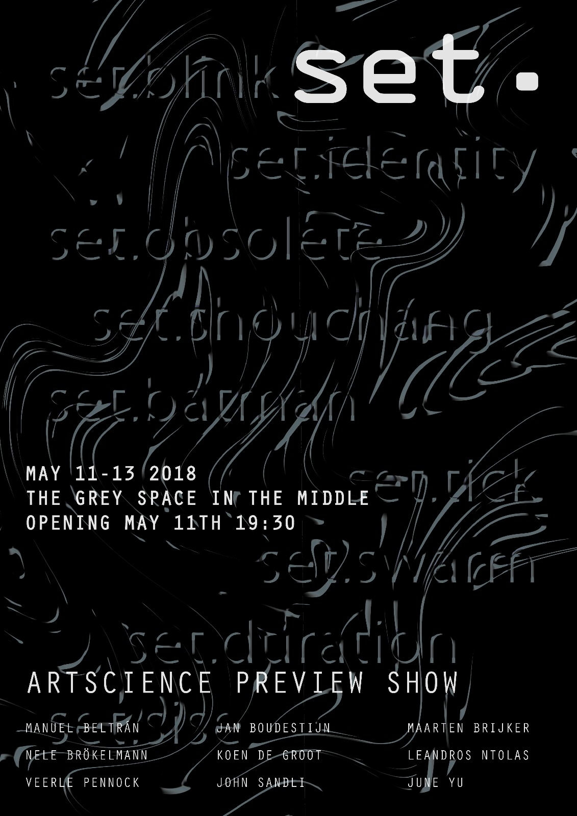 Set. ArtScience Preview Show_poster